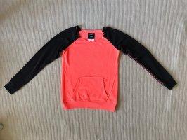 Fox Maglione girocollo nero-arancio neon