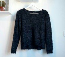 17&co Gebreide trui zwart-donkerblauw