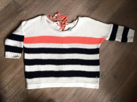 Maison Scotch Crochet Sweater multicolored