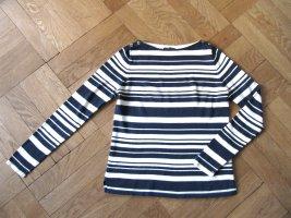 Pullover von Ralph Lauren Gr. S (36/38) wollweiß dunkelblau gestreift
