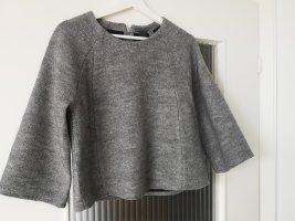 Pullover von S. Oliver Premium in Grau mit Trompetenärmeln