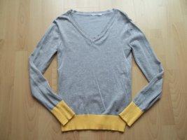 Pullover von Tom Tailor Polo Team in Gr. 34 grau gelb
