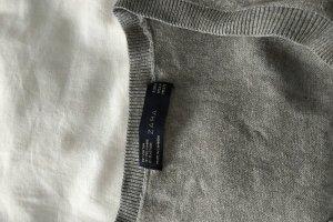 Zara Sweter bez rękawów z cienkiej dzianiny jasnoszary