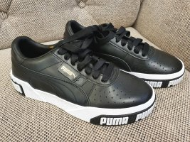 Puma Cali Bold Gr. 37 Neu schwarz weiß leder sneaker Turnschuhe Schuhe