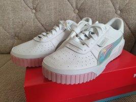 Puma Cali Iridescent Wn's gr. 38 weiß rosa silber sneaker schuhe Turnschuhe