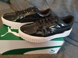 Puma Cali Patent gr. 37 Schwarz Black Leder Lack sneaker Turnschuhe Schuhe