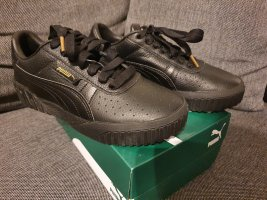 Puma Cali Wn's gr. 37,5 Schwarz Black Leder sneaker Turnschuhe Schuhe