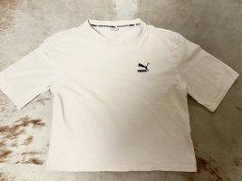 Puma Shirt weiß mit buntem Print, Größe S