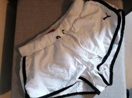 Moda Puma Short de sport blanc-noir