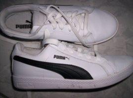 PUMA Sneaker, Freizeitschuhe, weiß-schwarz, fast wie neu, Gr. 37