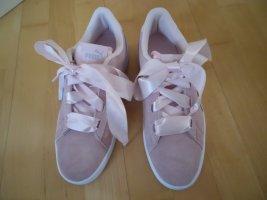 Puma Sneaker rosa Leder Satin Schleife Gr. 39 neu ohne Karton