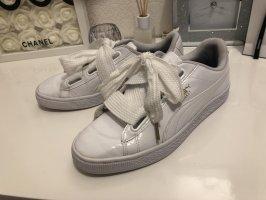 Puma Sneaker Schuhe Turnschuhe Weiß Lack 39