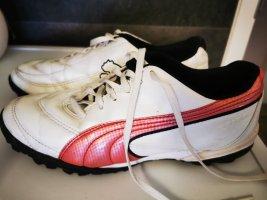 Puma Sneaker Sportschuhe weiß rot Gr 40  Leder  neuwertig