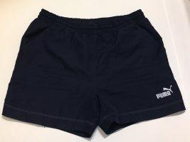 Puma Pantalón corto deportivo azul oscuro-blanco