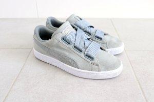 Puma Basket à lacet gris clair