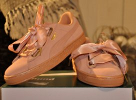 Puma suede Heart ! Satin Wn´s sneaker ! Dusty Coral-Gold