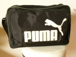 Puma Sporttas zwart-wit Polyamide