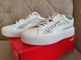 Puma Vicky Gr. 38,5 Stacked Laser Cut Weiß sneaker neu Cali Turnschuhe Plattform