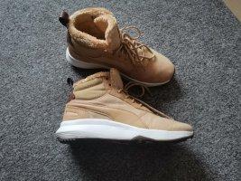 Puma High Top Sneaker gold orange mixture fibre