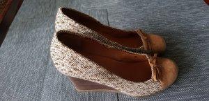 Scholl Zapatos de cuña marrón