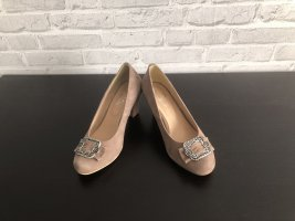 Hirschkogel Backless Pumps grey brown