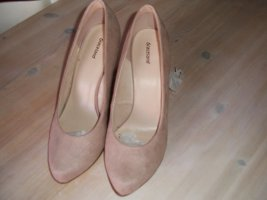 Deichmann High-Front Pumps dusky pink