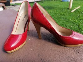 Buffalo girl Wedge Pumps red