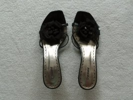 Graceland Peep Toe Pumps black-silver-colored
