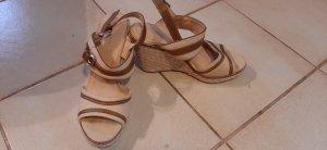 Graceland Zapatos de cuña marrón-crema
