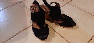 diverse Zapatos de cuña negro-marrón claro
