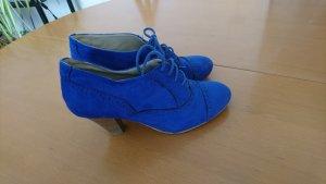 Akira Chaussure à talons carrés bleu cuir