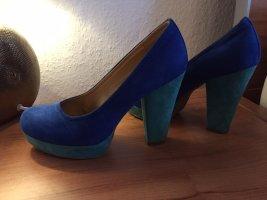 Catwalk Wysokie obcasy niebieski-turkusowy