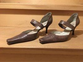Audley Stiletto gris brun cuir