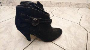 Pumps high heels schwarz Schleife bow 40