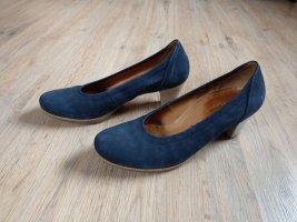 Pumps hohe Schuhe dunkelblau Gabor