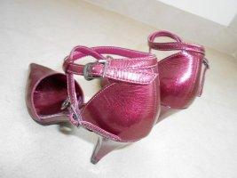 Pumps in angesagtem Metallic-Look#pink#metallic#spitz#beere#High Heel