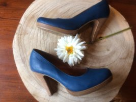Tamaris Plateauzool pumps korenblauw Leer