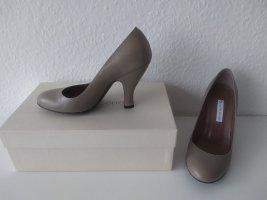 Autre Chose Escarpin compensé gris brun
