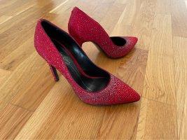 Pumps Lola Cruz jewel shoes mit Swarovski 37 rot