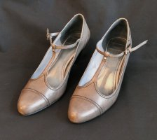 esprit collection Mary Jane Pumps grey brown leather