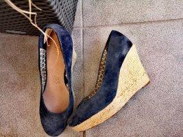 Accessoires Zapatos de cuña azul