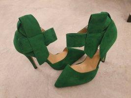 Zapatos de punta verde bosque