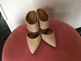 Pumps Mules heels nude beige next Asos zara Schlange Snake 37 38