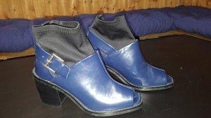 Pumps Neopren-artig Kunststoff Shellys London 38 blau schwarz