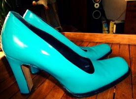 High Heels turquoise leather