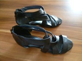 Pumps Sandalette Gr.39 Absatz6 cm schwarz Reißverschluß von Caprice