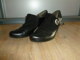 Pumps Schuhe schwarz Leder Caprice