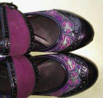 Lavorazione Artigiana Peep Toe Pumps brown violet-blue violet