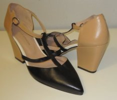 anyo emotion T-Strap Pumps black-sand brown leather