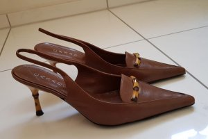 Casadei Pointed Toe Pumps brown leather